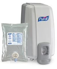 PURELL® Advanced Hand Sanitizer Skin Nourishing Gel (1000 mL) with dispenser as shown in the UniFirst Facility Services Catalog
