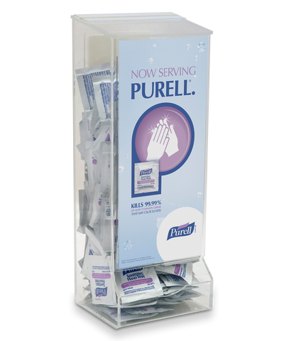 PURELL® Hand Sanitizing Towelettes with Clear Dispenser