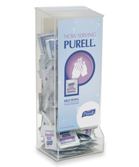PURELL® Sanitizing Hand Towelettes with Clear Dispenser as shown in the UniFirst Facility Services catalog.