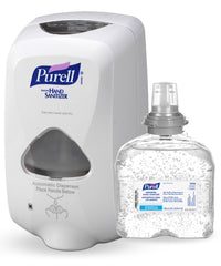 PURELL® Hand Sanitizer Foam (Touchless 1200 mL) with PURELL® TFX-12™ Touchless Dispenser shown in UniFirst Facility Services catalog.