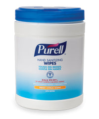 PURELL® Sanitizing Wipes 270-Count Canister as shown in the UniFirst Facility Services Catalog