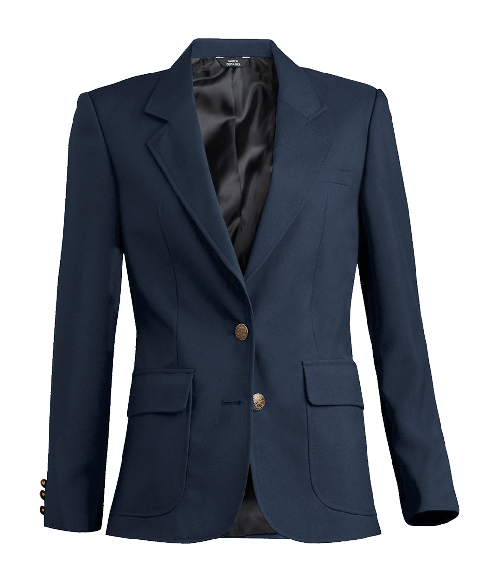 Women's Blazers (Navy) as shown in the Hospitality Collection in the UniFirst Uniforms Rental Catalog.