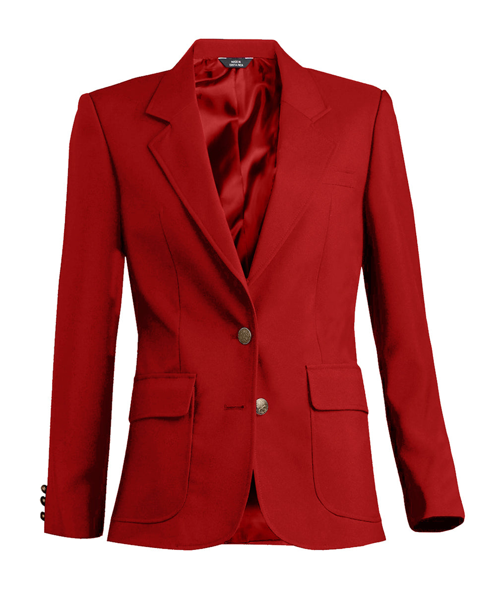 Women's Blazers (Red) as shown in the Hospitality Collection in the UniFirst Uniforms Rental Catalog.