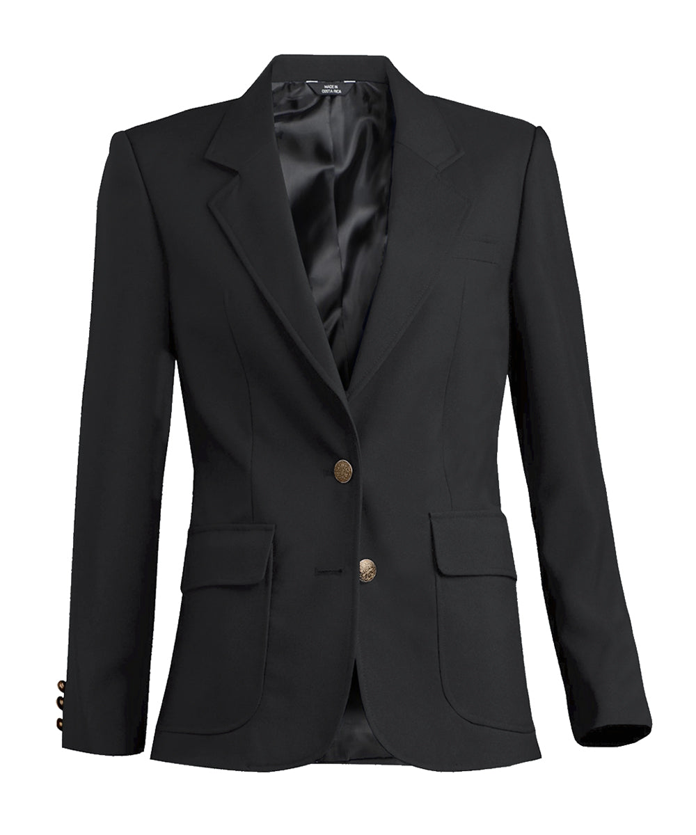 Women's Blazers (Black) as shown in the Hospitality Collection in the UniFirst Uniforms Rental Catalog.