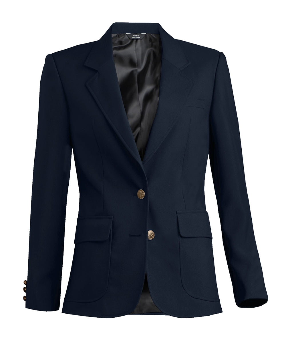 Women's Blazers (Midnight Blue) as shown in the Hospitality Collection in the UniFirst Uniforms Rental Catalog.