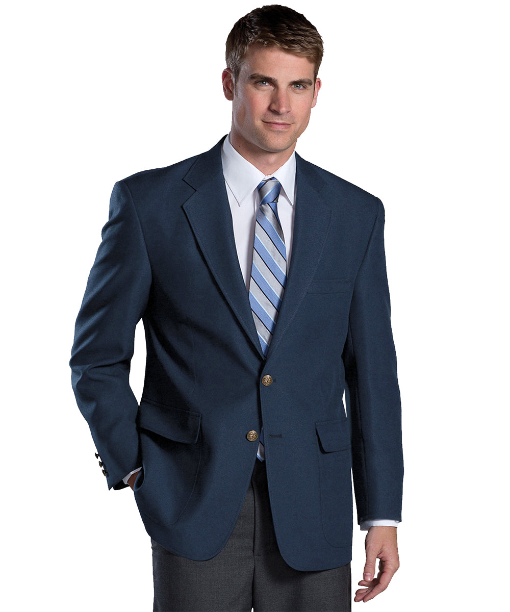 Men's Blazers (Navy) as shown in the Hospitality Collection in the UniFirst Uniforms Rental Catalog.