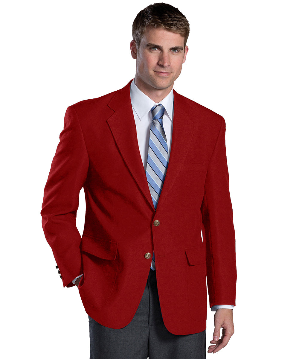 Men's Blazers (Red) as shown in the Hospitality Collection in the UniFirst Uniforms Rental Catalog.