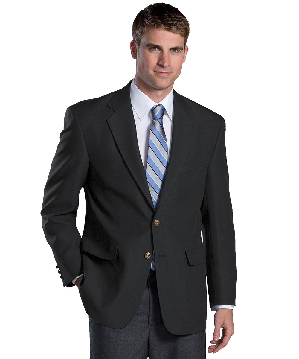Men's Blazers (Black) as shown in the Hospitality Collection in the UniFirst Uniforms Rental Catalog.