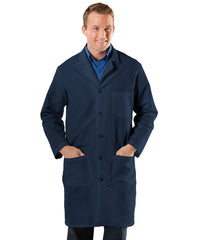 Navy Blue UniWear® Men's Lab Coats  Shown in UniFirst Uniform Rental Service Catalog