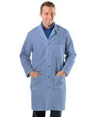 Light Blue UniWear® Men's Lab Coats  Shown in UniFirst Uniform Rental Service Catalog