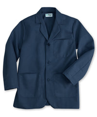 Navy Blue UniWear® Unisex Counter Coats Shown in UniFirst Uniform Rental Service Catalog
