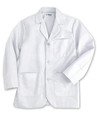 White UniWear® Unisex Counter Coats Shown in UniFirst Uniform Rental Service Catalog