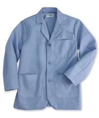 Light Blue UniWear® Unisex Counter Coats Shown in UniFirst Uniform Rental Service Catalog