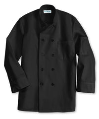 Black UniFirst® 10-Button Full Sleeve Chef Coats Shown in UniFirst Uniform Rental Service Catalog