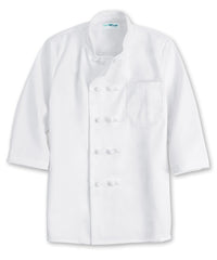 White 10-Knot 3/4 Sleeve Chef Coats Shown in UniFirst Uniform Rental Service Catalog