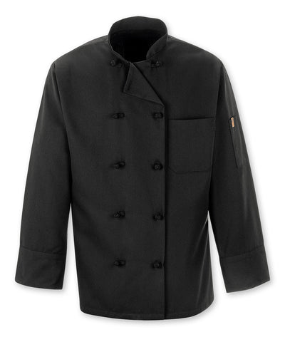 10-Knot Full Sleeve Black Chef Coats