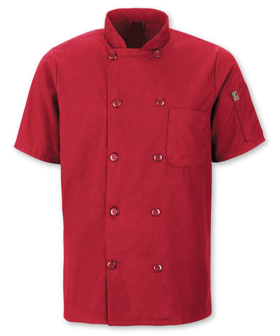 MIMIX™ OilBlok Short Sleeve 10-Button Chef Coats