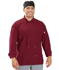 Powerhouse Chef Coat with Mesh Back (Burgundy) as Shown in the UniFirst Uniform Rental Catalog