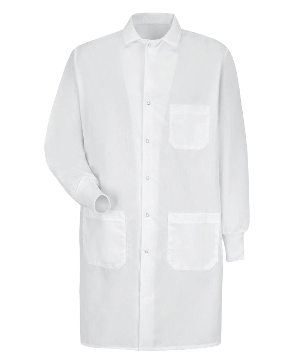 Lab Coat with Specialized Cuffs (White) as shown in the UniFirst Uniform Rental Catalog