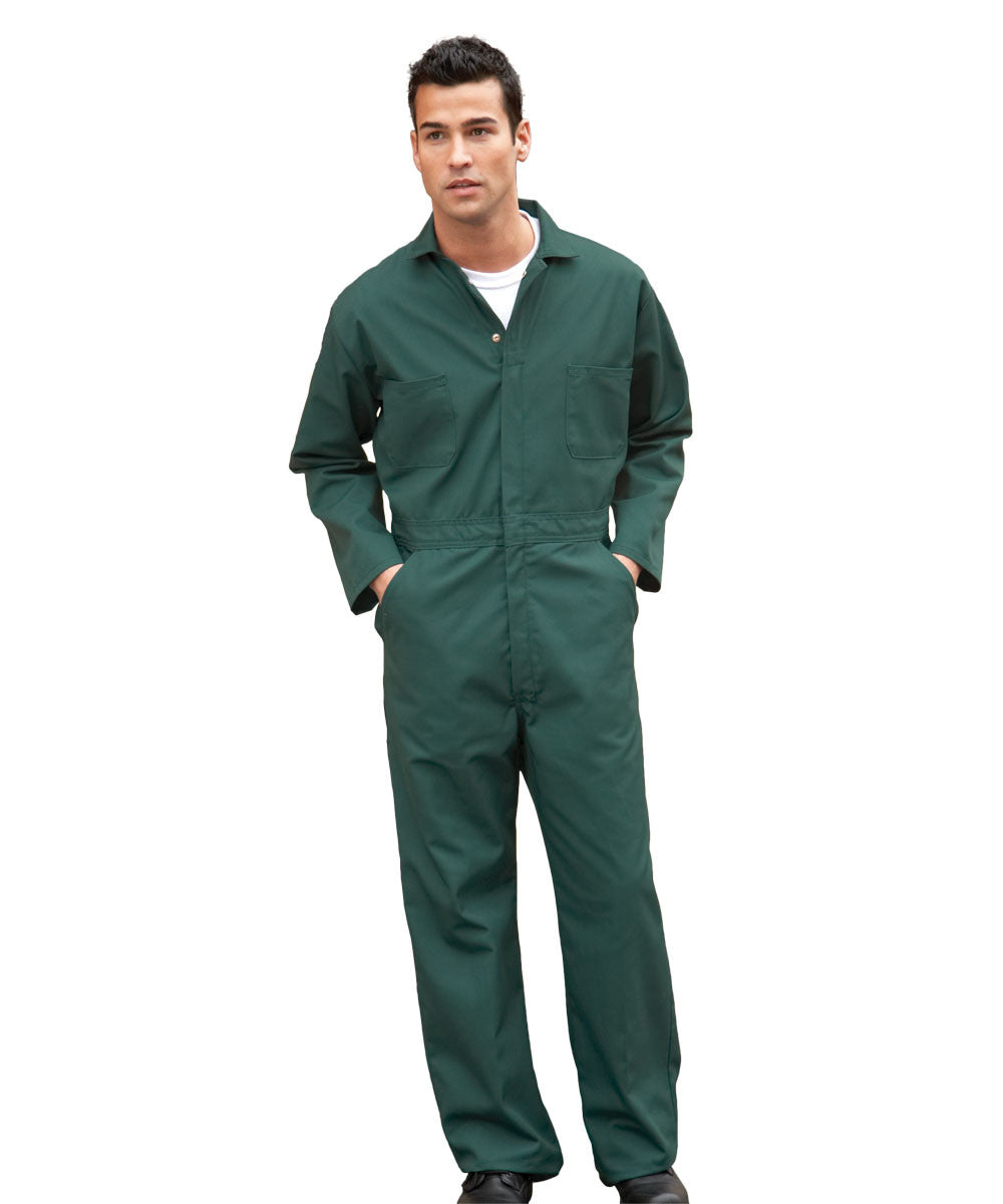 Spruce Green UniWear® Cotton Blend Zip Front Coveralls Shown in UniFirst Uniform Rental Service Catalog