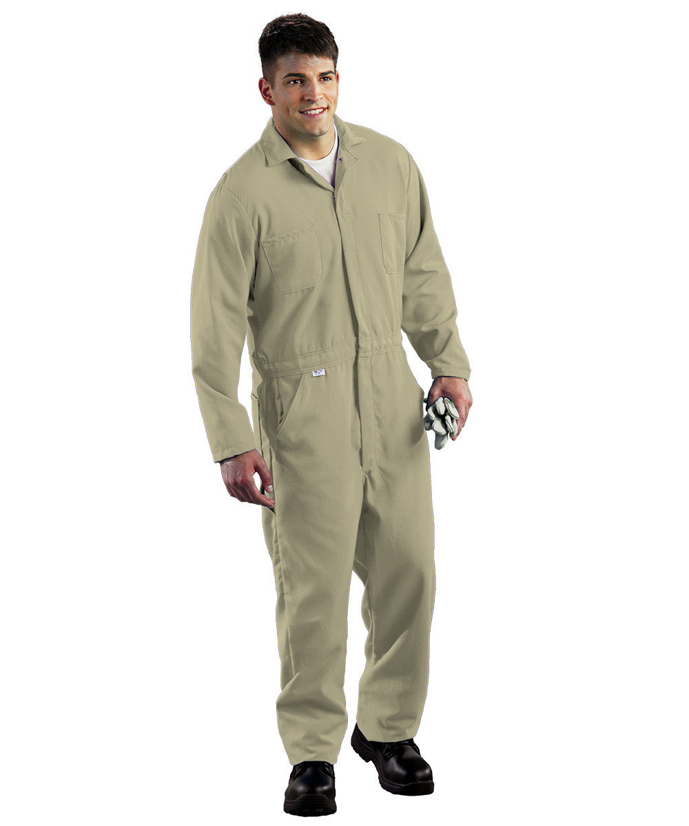 Khaki Armorex FR® Arc Rated Flame Resistant Coveralls Shown in UniFirst Uniform Rental Service Catalog