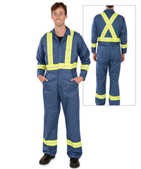 Enhanced Visibility Coveralls (Postman Blue) made by UniFirst as shown in the UniFirst Uniform Rental Catalog