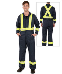 Enhanced Visibility Coveralls (Navy) made by UniFirst as shown in the UniFirst Uniform Rental Catalog