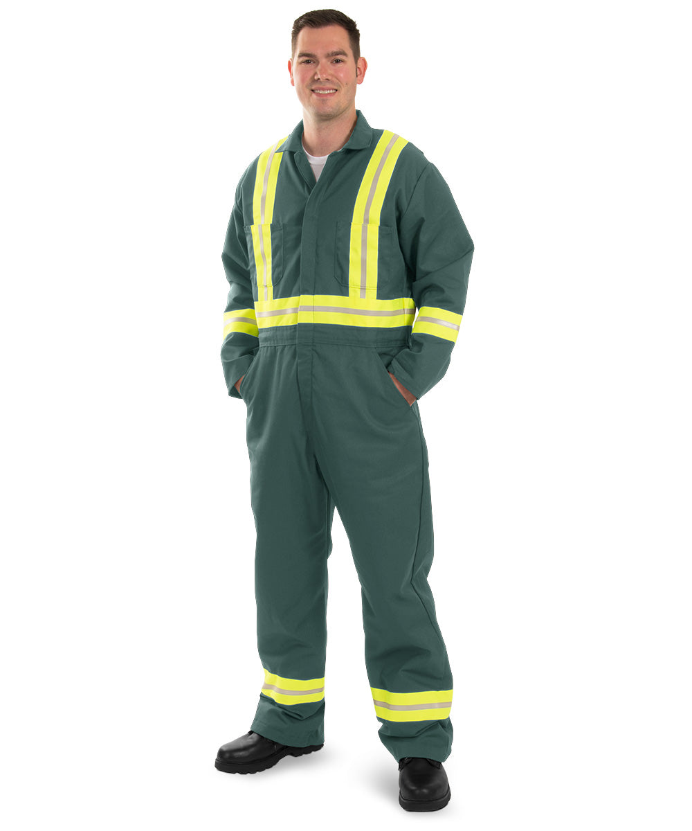 Enhanced Visibility Coveralls (Spruce) as shown in the UniFirst Uniform Rental Catalog