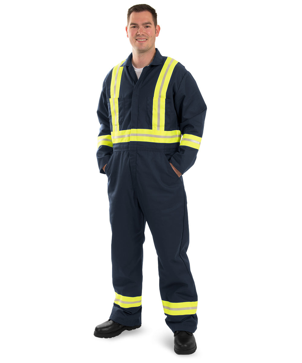 Enhanced Visibility Coveralls (Navy Blue) as shown in the UniFirst Uniform Rental Catalog