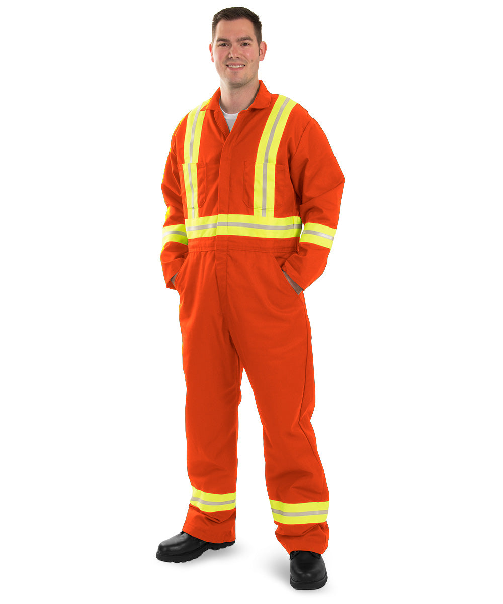 Enhanced Visibility Coveralls (Orange) as shown in the UniFirst Uniform Rental Catalog