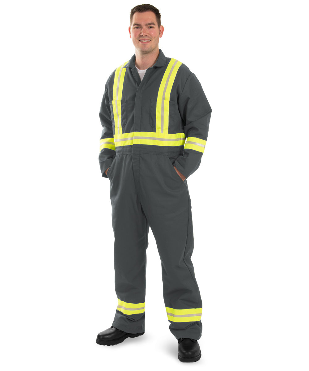 Enhanced Visibility Coveralls (Charcoal) as shown in the UniFirst Uniform Rental Catalog