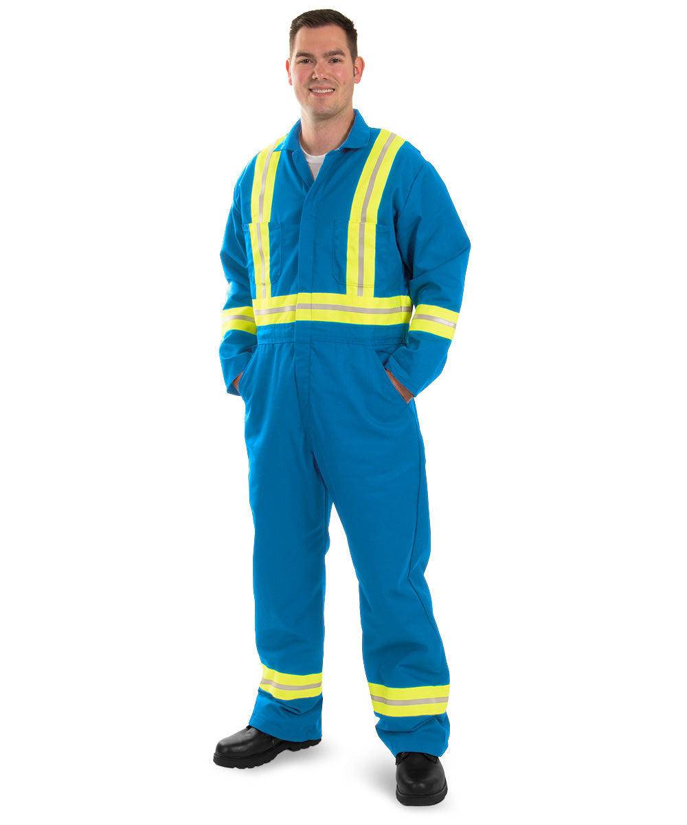Enhanced Visibility Coveralls (Electric Blue) as shown in the UniFirst Uniform Rental Catalog
