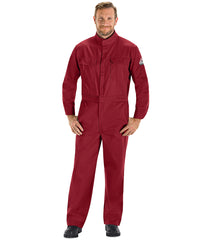 Bulwark® FR Coveralls (Red) as shown in the UniFirst Uniform Rental Catalog.