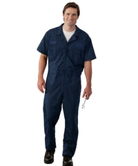 Navy Blue UniWear® Speedsuits Shown in UniFirst Uniform Rental Service Catalog
