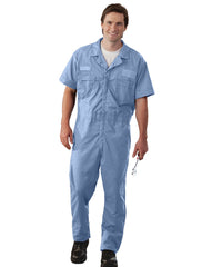 Light Blue UniWear® Speedsuits Shown in UniFirst Uniform Rental Service Catalog