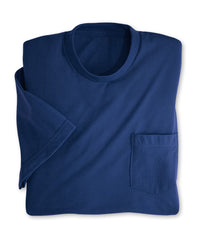 Royal Blue Moisture Management Pocket T-Shirts Shown in UniFirst Uniform Rental Service Catalog