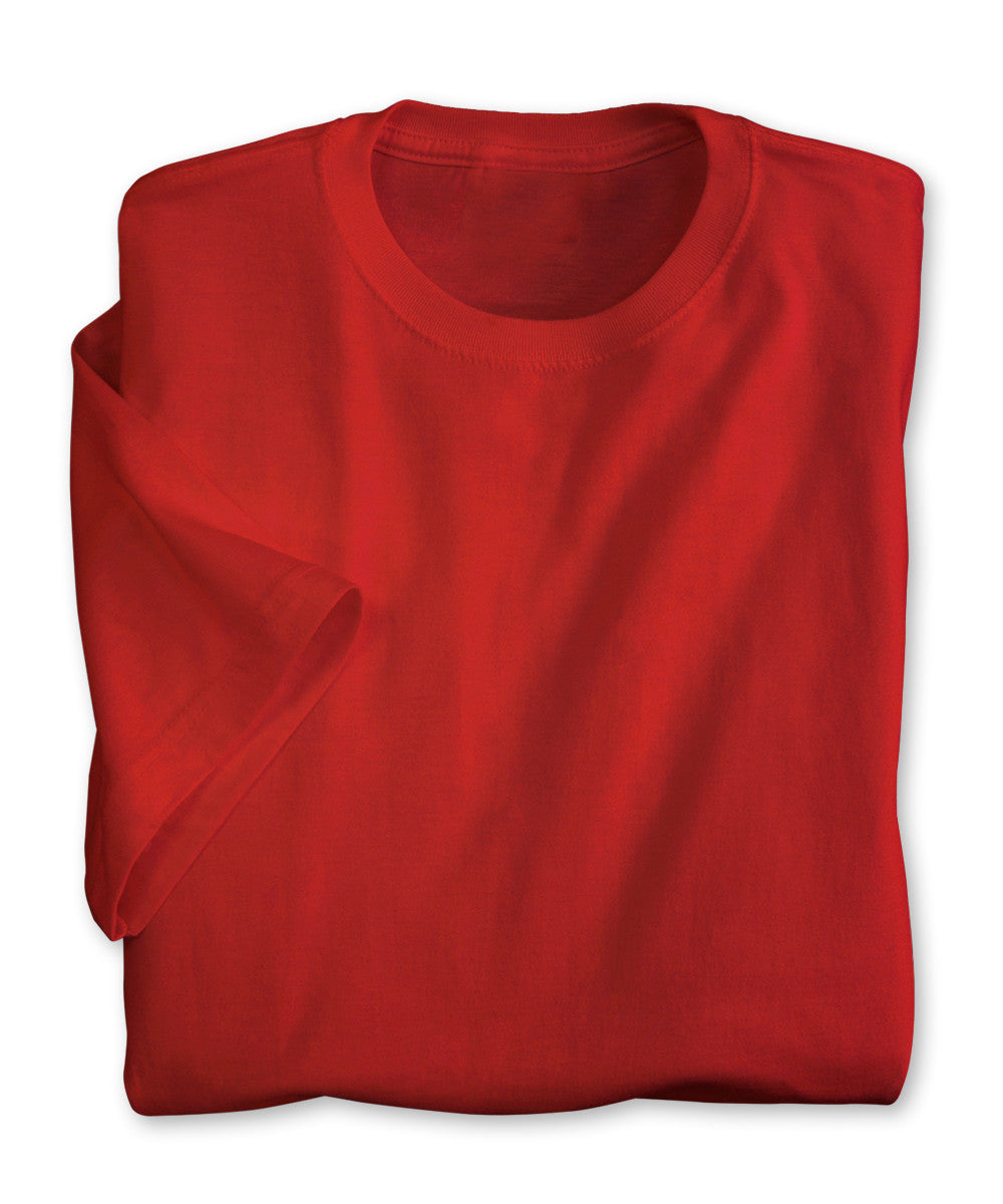 Red Moisture Management T-Shirts Shown in UniFirst Uniform Rental Service Catalog