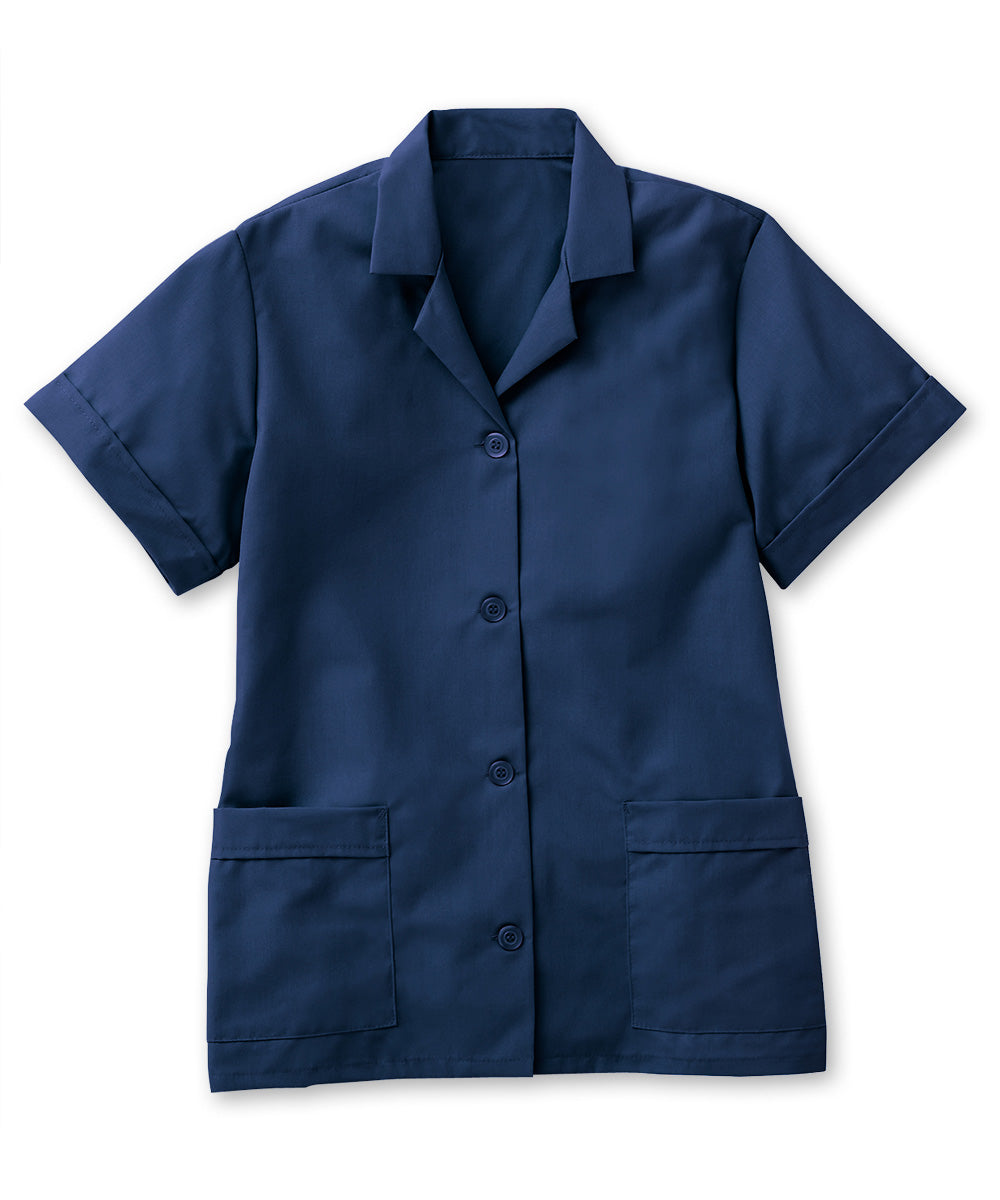 Navy Blue UniFirst® Women's Smocks Shown in UniFirst Uniform Rental Service Catalog