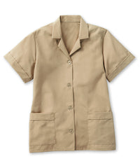Tan UniFirst® Women's Smocks Shown in UniFirst Uniform Rental Service Catalog