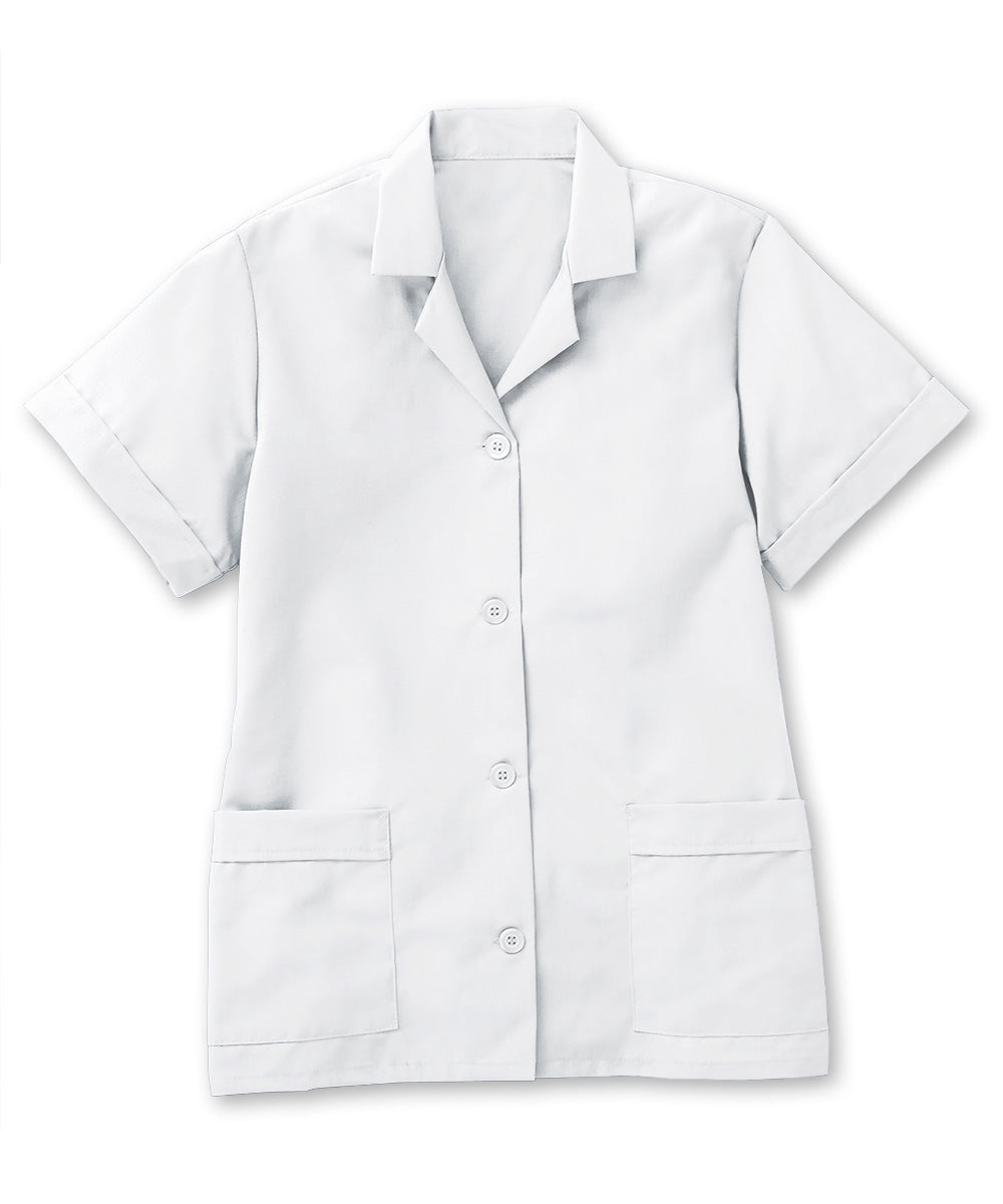 White UniFirst® Women's Smocks Shown in UniFirst Uniform Rental Service Catalog