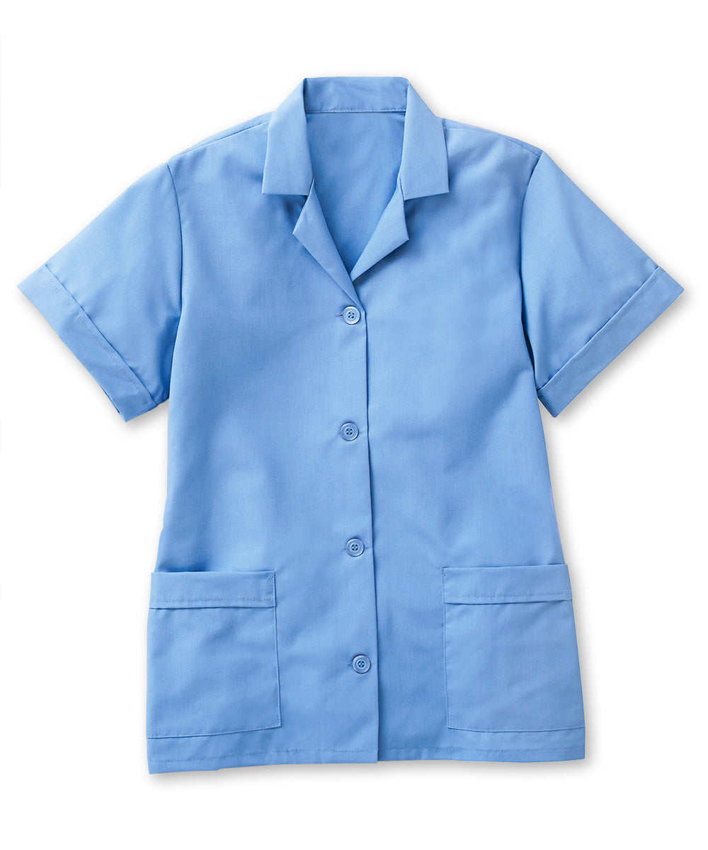 Light Blue UniFirst® Women's Smocks Shown in UniFirst Uniform Rental Service Catalog