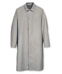 Grey UniWear® Food Processor Coats with Open Cuffs Shown in UniFirst Uniform Rental Service Catalog