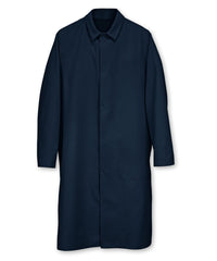 Navy Blue UniWear® Food Processor Coats with Open Cuffs Shown in UniFirst Uniform Rental Service Catalog