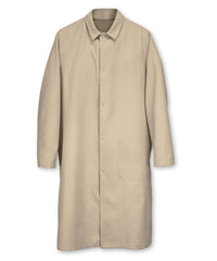 Tan UniWear® Food Processor Coats with Open Cuffs Shown in UniFirst Uniform Rental Service Catalog