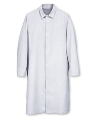 White UniWear® Food Processor Coats with Open Cuffs Shown in UniFirst Uniform Rental Service Catalog