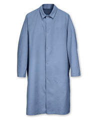 Light Blue UniWear® Food Processor Coats with Open Cuffs Shown in UniFirst Uniform Rental Service Catalog