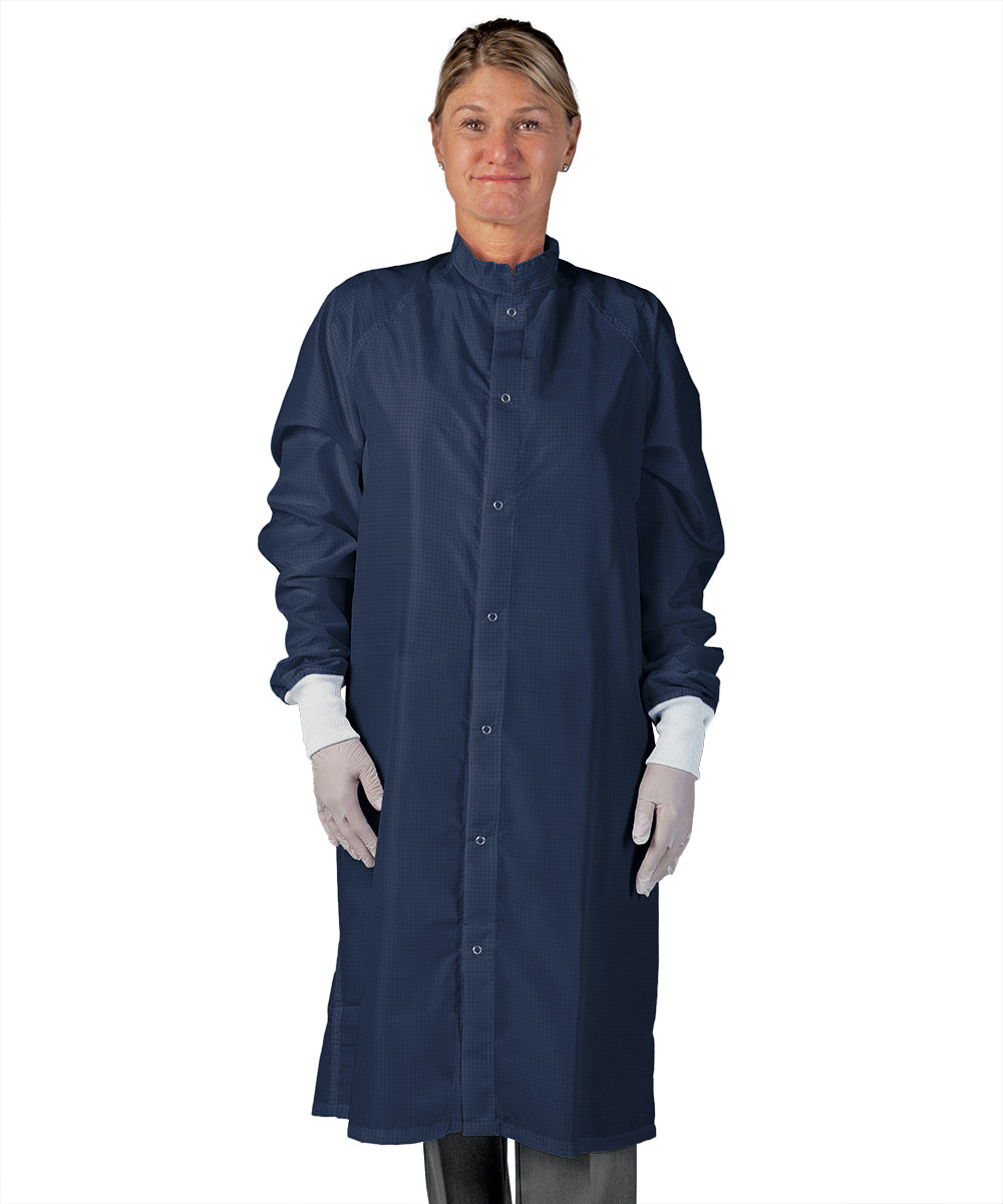 Unisex Static Control (ESD) Frocks (Navy) as Shown in the UniFirst Uniform Rental Catalog