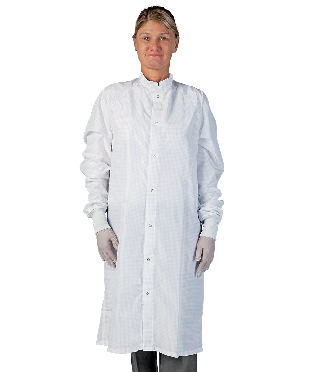 Unisex Static Control (ESD) Frocks (White) as Shown in the UniFirst Uniform Rental Catalog