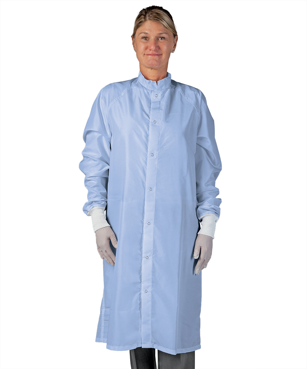 Unisex Static Control (ESD) Frocks (Light Blue) as Shown in the UniFirst Uniform Rental Catalog