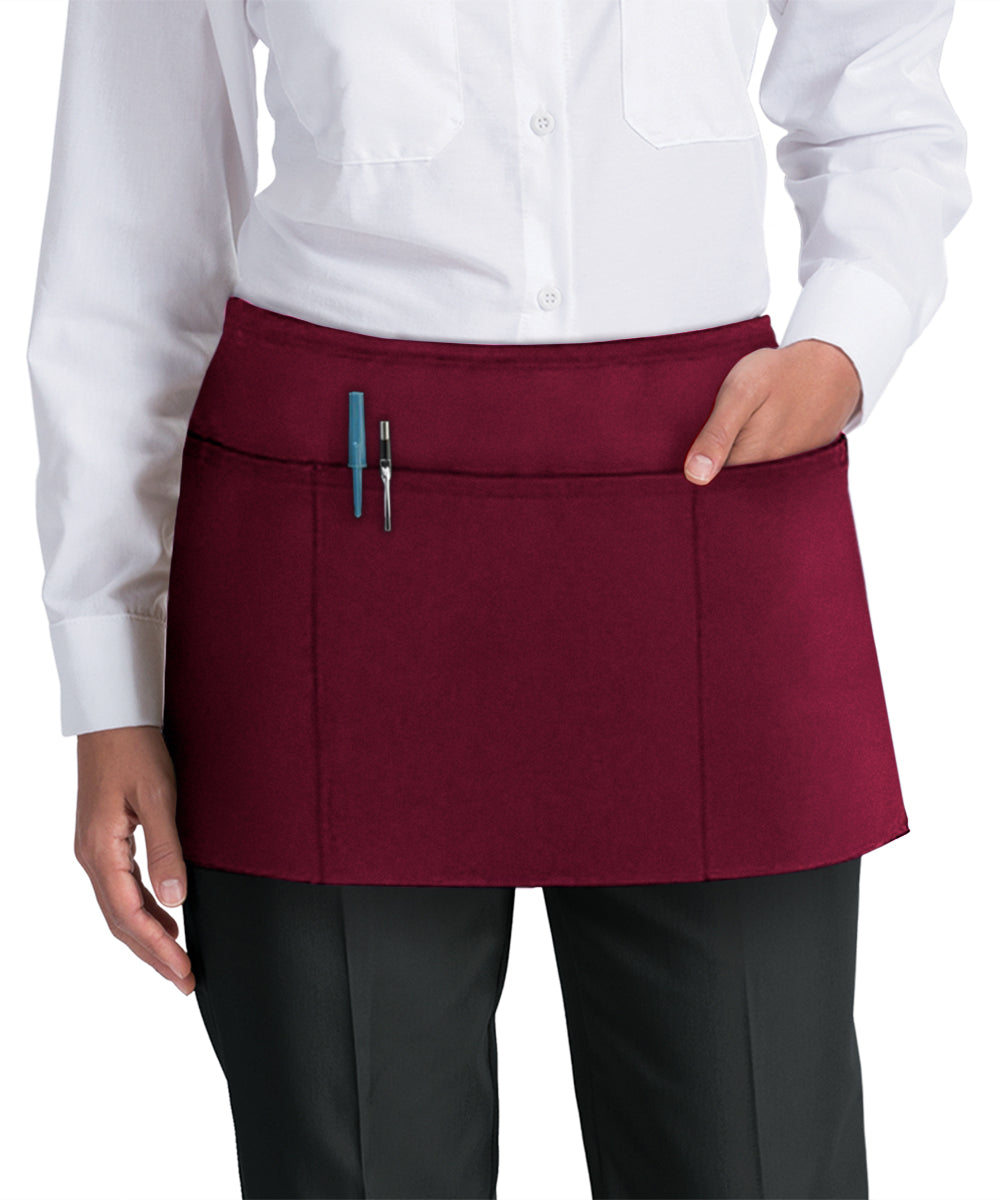 Waist Aprons (Maroon) as Shown in the UniFirst Uniform Rental Catalog